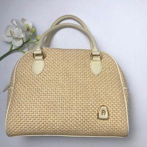 Etienne Aigner Vintage Woven Bowling Bag